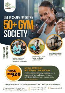 Oak Wellness 50+ Gym Society Flier